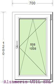 Termopan 70 / 120 cm - Deschidere dubla