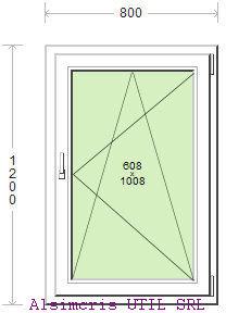 Termopan 80 / 120 cm - Deschidere dubla