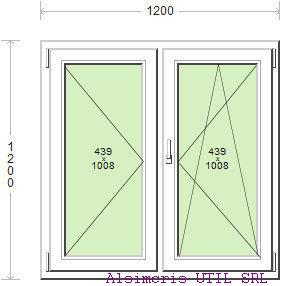 Termopan 120 / 120 cm - 1 simpla - 1 dubla